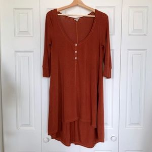 Urban Outfitters lightweight Rust Tunic